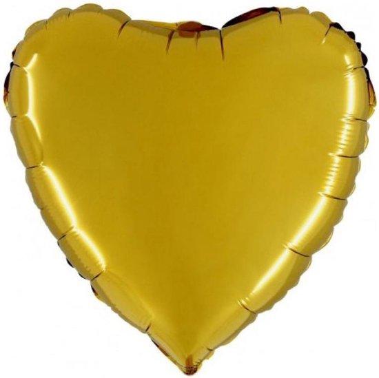 Folieballon Hart 18 Goud