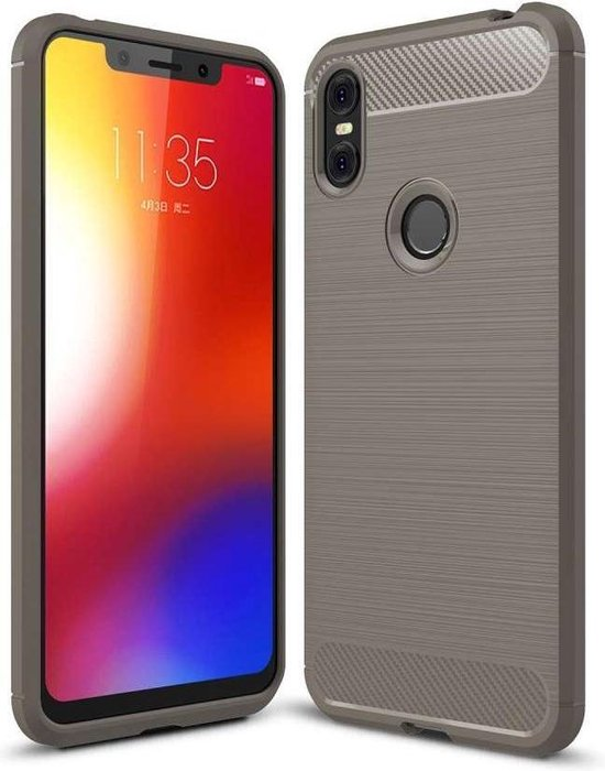 Rugged TPU Motorola One Case - Grijs