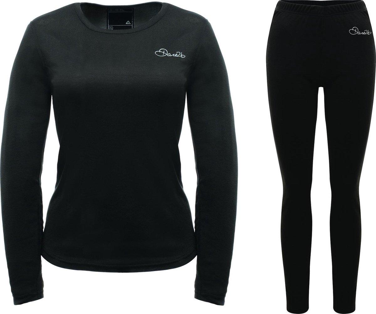 Dare 2b Insulate Thermo Set Dames Sportshirt - Maat S  - Vrouwen - zwart - Dare 2b
