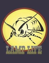 Lamp Life College Ruled Notebook