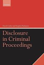 Disclosure in Criminal Proceedings
