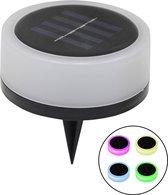 Solar grondspot Puck RGB + Warm Wit - voordeelset 4 stuks
