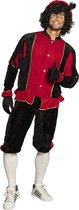 Pieten kostuum rood/zwart maat L