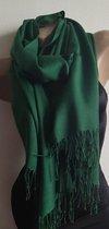 Dames effen kleur sjaal groen