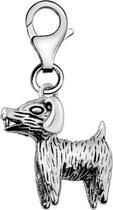 Quiges - 925 Zilver Charm Bedel Hanger 3D Hond - HC001