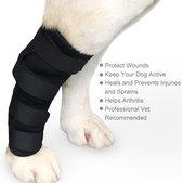 Honden brace voorpoot od achterpoot - Sterk steungevend - Medium - Zwart - Doegly