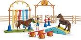 Schleich Pony's behendigheidstraining 42481 - Paard Speelfigurenset - Farm World - 53 x 45 x 19,6 cm