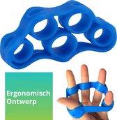 Vingerstretcher siliconen | Vingergripper | Vinger training | Handtrainer - Handgripper | Yoga stretcher | Finger exercises | Vinger oefening - Blauw (4KG - 8.8LB)