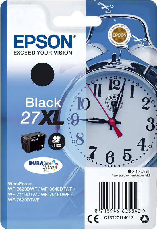 Epson 27XL - Inktcartridge / Zwart