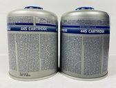 2 X Cadac gascartridge 445 gram met schroefdraad
