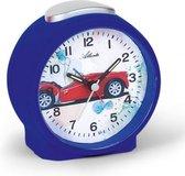Leuke kinder wekker blauw met race auto