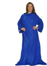Living Nine Snuggie Deluxe - Fleece Deken Met Mouwen - Blauw - 180x135 cm
