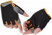 Sporthandschoen – multifunctioneel – vingerloze handschoenen met grip voor (race)fietsen en spinnen, fitness, gym, hockey – 1 paar - maat m