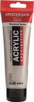 Standard tube 120 ml Zilver halfdekkende acrylverf