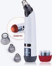 2 in 1 Blackhead Remover Vacuum met verwarmingselement - Verstopte Poriën en Acne behandeling - Elektrische Gezichtsreiniging - Elektrische mee-eter verwijderaar - tegen puistjes en onzuiverheden - gezichtsverzorging