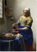 Graphic Message - Schilderij op Canvas - Het Melkmeisje - Johannes Vermeer - Reproductie - Kunst
