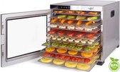 Droogoven 10 laags roestvrij staal Vita5 Nobel PRO Voedseldroger • 24-uurs timer • LED-bedieningspaneel voor temperatuur en timer • (10 laags RVS Dehydrator)