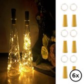 Flesverlichting - Set van 6 incl. Batterijen - Flessenlicht - Kurk verlichting