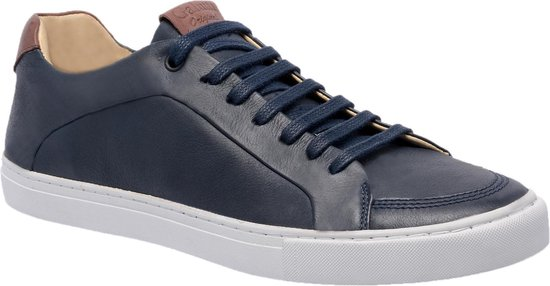 Galutti Hand Made Leather Shoes/ Leer Schoenen - Casual/Sportief - Donkerblauw/Marine/Whiskey 41 (EU)