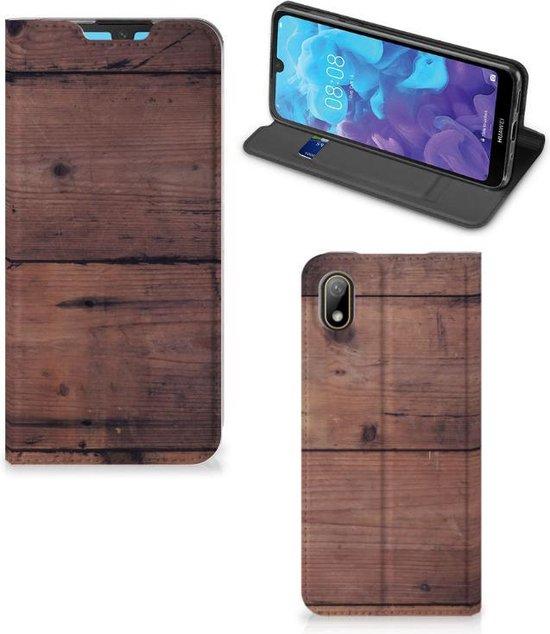 Huawei Y5 (2019) Book Wallet Case Old Wood