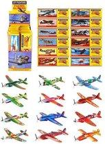 48 STUKS | Uitdeelcadeautjes - Fighter Gliders - Model: Foam Vliegtuigen in Display (48 stuks)