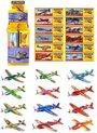 48 STUKS - Mix kleuren Foam Vliegtuigen