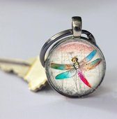Libelle sleutelhanger