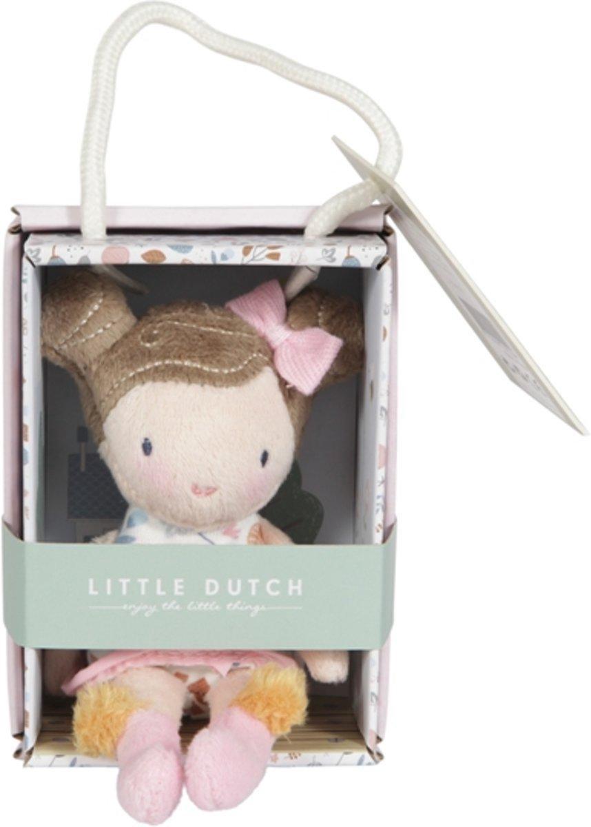 Little Dutch Pluche Knuffelpop Rosa 10 cm