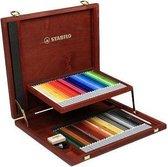 STABILO CarbOthello Kalkpastel Kleurpotloden - 60 kleuren in houten kist