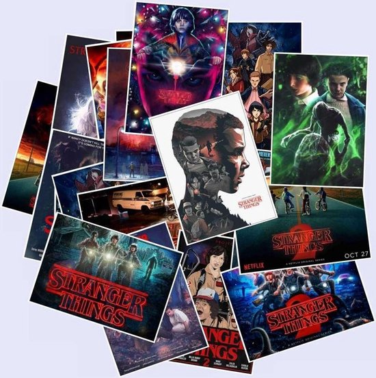 50 Stranger Things stickers - Film posters