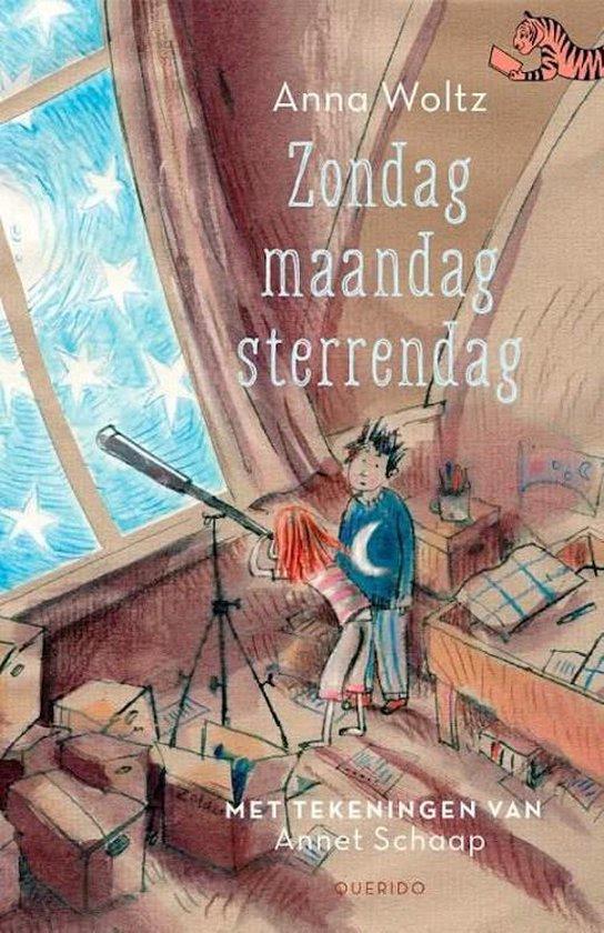 Boek cover Tijgerlezen  -   Zondag, maandag, sterrendag van Anna Woltz (Hardcover)