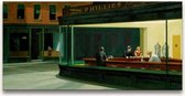 Handgeschilderd schilderij Olieverf op Canvas - Edward Hopper 'Nighthawks'