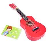 New Classic Toys - Speelgoed Gitaar met Draagriem - Rood