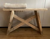 steigerhouten kruk - bankje - gebruikt hout, steigerhout