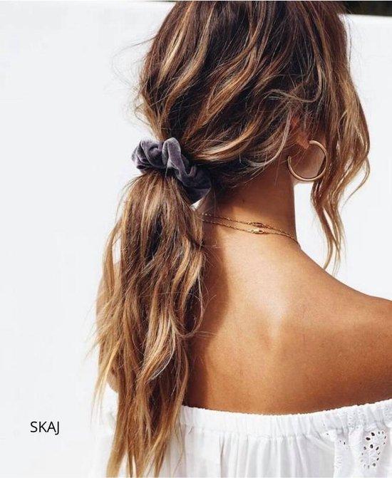SKYCOMMERCE - Scrunchie Velvet - Haaraccessoires - Haarelastiek - 10 stuks - diverse kleuren