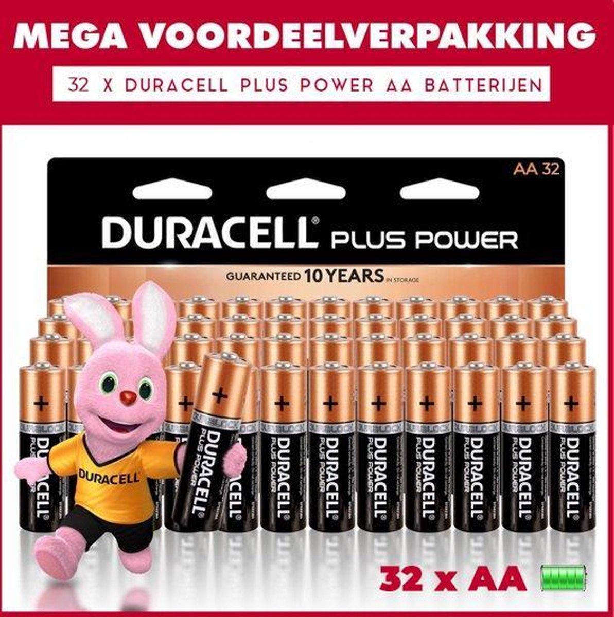 32 x Duracell AA Plus Power - Voordeelverpakking - 32 x AA batterijen