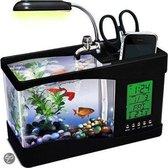 United Entertainment USB Desktop Aquarium - 24 x 10 x 19 cm - 1.25 L - Zwart