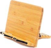 Premium Bamboe Houten Kookboek Standaard  - Boekensteun - Kookboekstandaard - Ipad en tablet standaard - Boekenstandaard - Hout Kook boek standaard - Bamboe