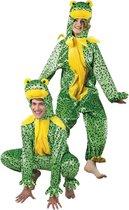 Onesie Volwassenenkostuum - Pluche Kikker - Kostuum - Maat M-L - Carnavalskleding