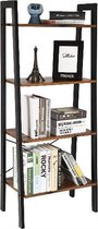 MIRA - Ladderkast| Boekenkast | Houtlook | Vintage | Industrieel| Ladderstelling | Woonkamer