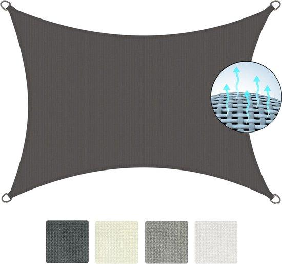 Sol Royal - SolVision HS9 - Zonnezeil rechthoekig 200x300 cm - HDPE Ademend - Zonwering UV-bescherming - Antraciet