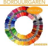 100 soorten verschillende kleuren voor kruissteken. Elke draad is 8 meter lang. Heldere levendige kleuren geschikt voor elk borduurproject.