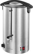 Ketel voor warme dranken metallic met grote capaciteit 16l | Warmhoudketel voor horeca | RVS drankautomaat | Theepot | Koffiepot | Glühwein ketel | Soepketel