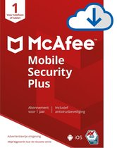 McAfee Mobile Security Plus -  1 Apparaat - 1 Jaar - België/Nederland