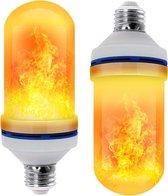 MaxiQualis® Vlam Sfeer Lamp Vuurlamp LED 7 Watt | E27 fitting | 108 LEDs | Zeer Realistisch | 4 modi: Vlam, Gewoon, Ademende en Gravity Modus