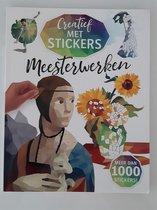 Creatief met stickers - Meesterwerken - Stickerboek - Creatieve stickerkunst - 8 beroemde schilderijen