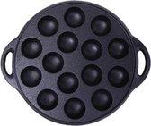 Poffertjespan Gietijzer met platte onderkant - Voor inductie, gas, elektra
