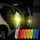 EPIN | Auto Deur Reflector Stickers | Open | Veiligheid Stickers | Waarschuwing Sticker | Reflectoren | ROOD | 4 STUKS