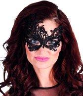 BOLAND BV - Sexy zwart kanten masker voor vrouwen - Maskers > Masquerade masker
