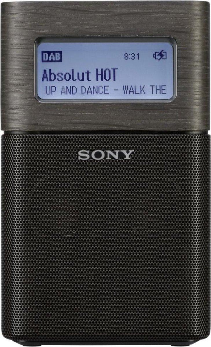 Sony XDR-V1BTD - Draagbare DAB+ radio met Bluetooth en wekker - Zwart